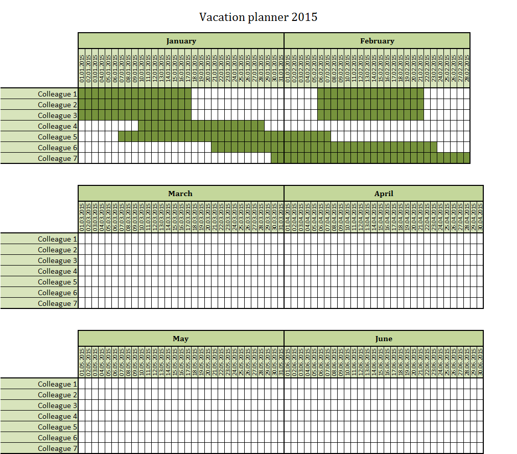 Calendar Vacation Planner : Calendar excel template vacation new style for