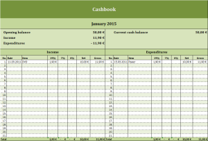 Free Cashbook As Excel Template Templates For