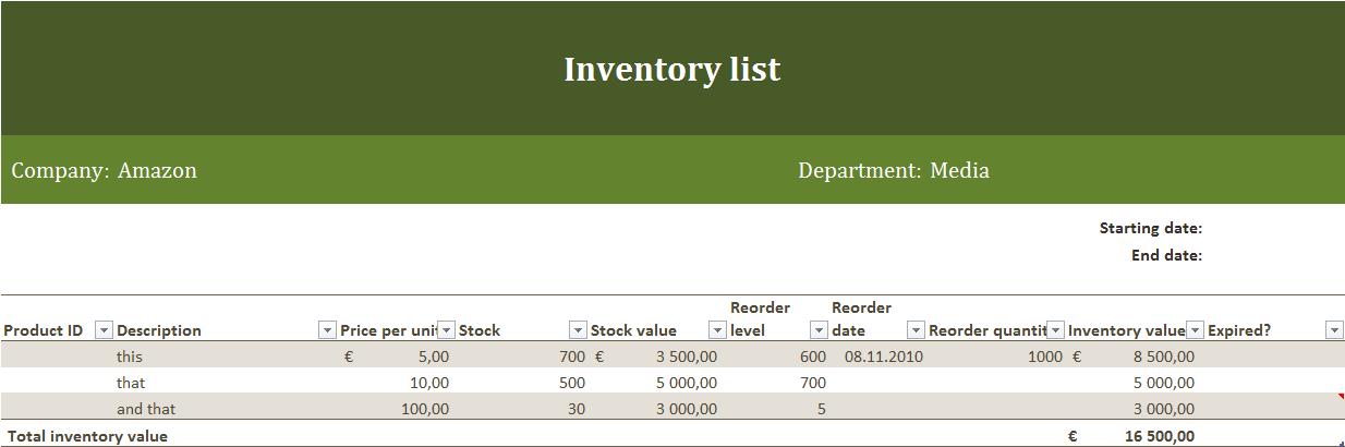 inventory checklist template excel downloads .