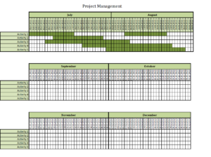 Project management with Excel templates