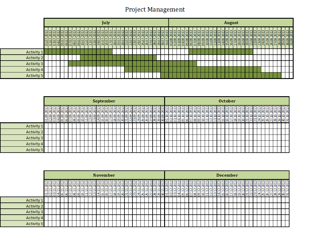 project management excel templates for every purpose