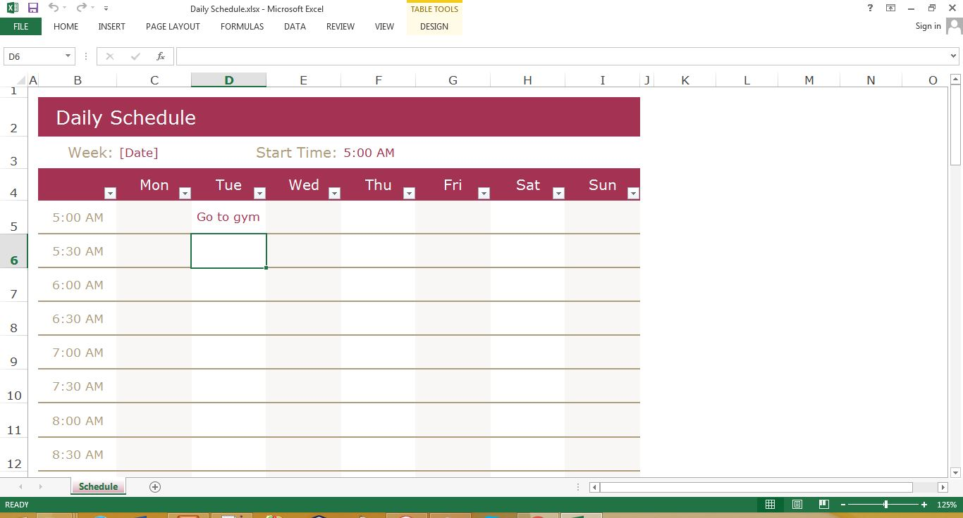 Time management excel templates for every purpose preview of daily schedule excel template maxwellsz