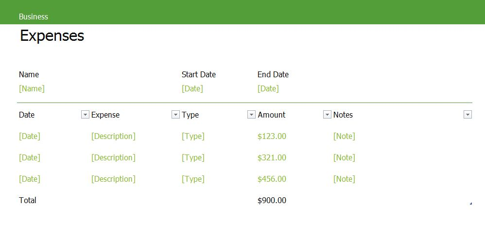 business expenses excel templates for every purpose