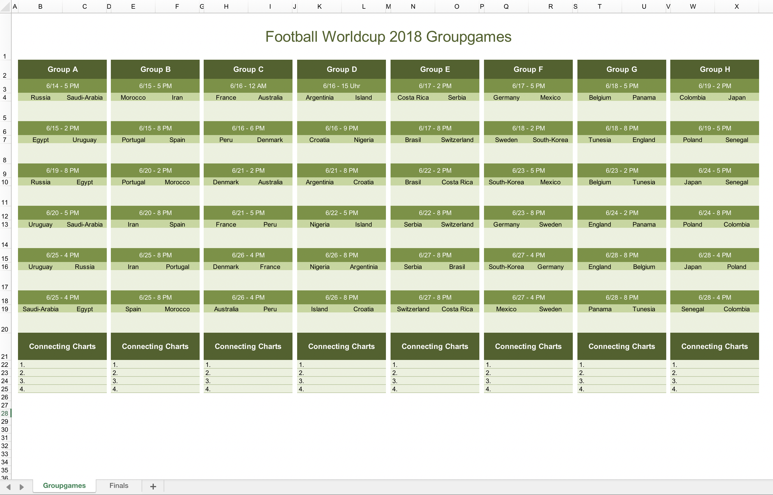 World Cup Excel Spreadsheet 2020.Fifa World Cup 2020 Schedule Excel Schedule 2020