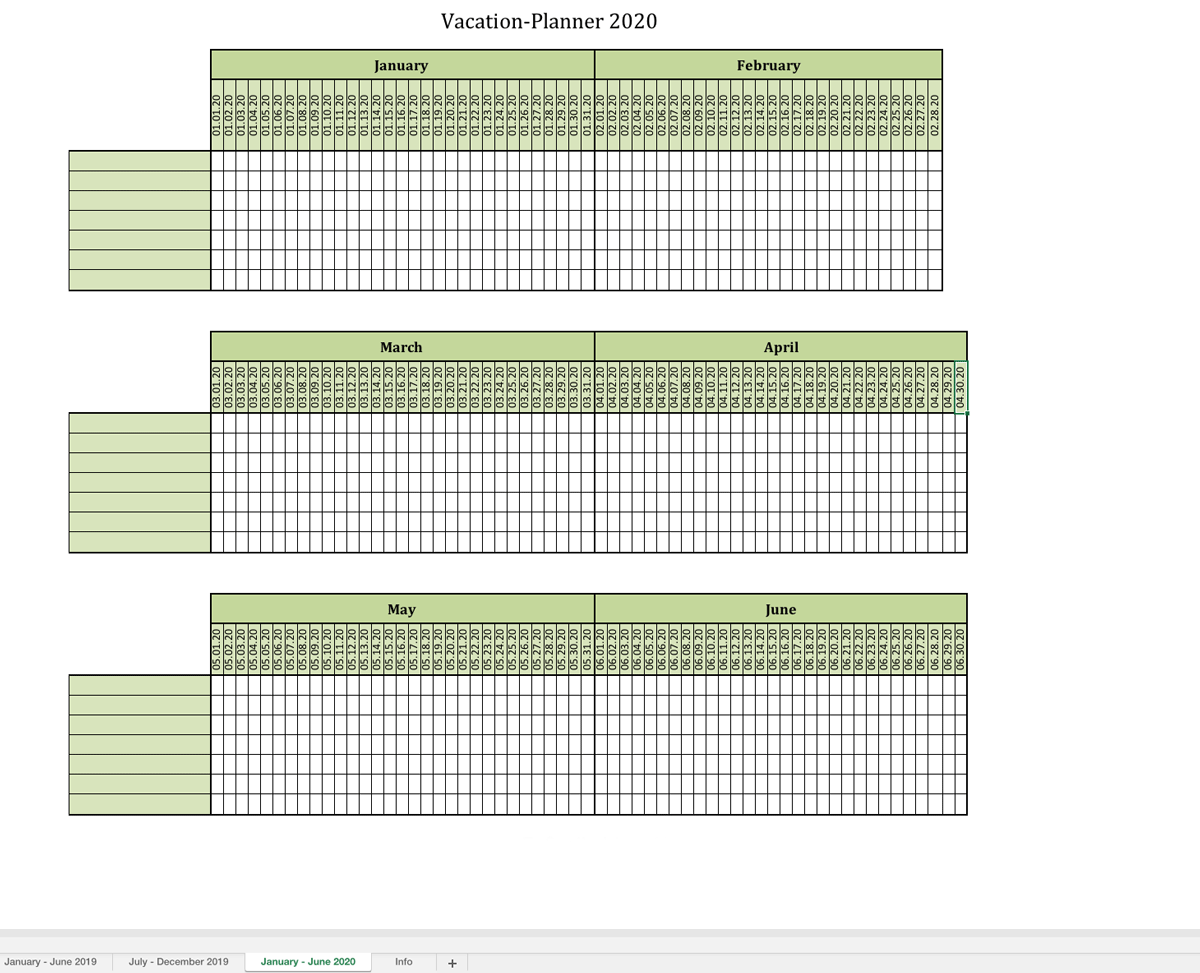 Vacation Planner 2019 Excel Templates For Every Purpose