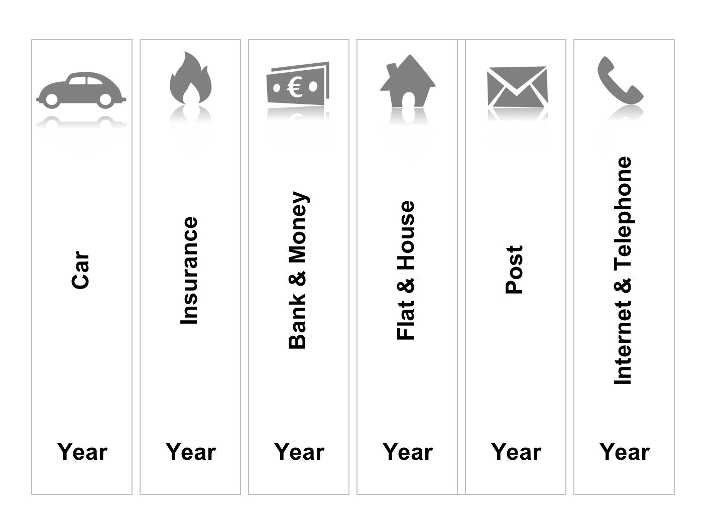 slender label for folders with excel