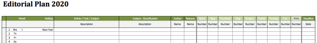 Marketing Plan Detail (Excel)