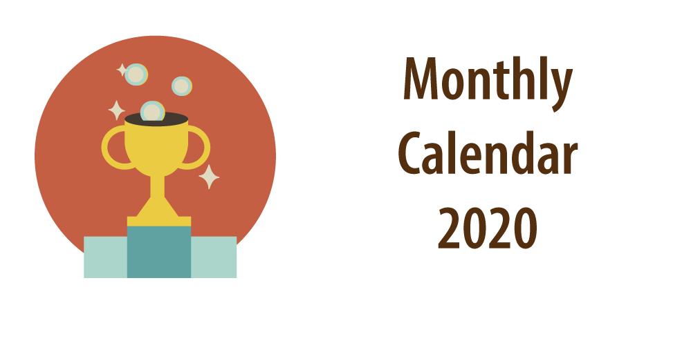 Banner Calendar 2020 Excel