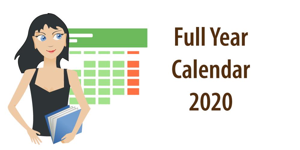 Banner Calendar 2020
