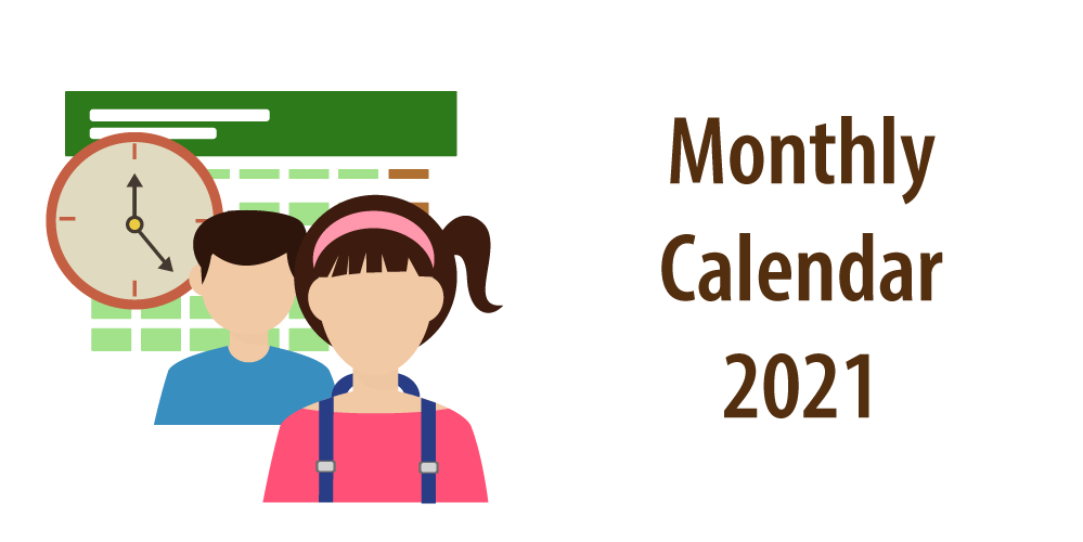 "Header of article ""Monthly Calendar 2021"""
