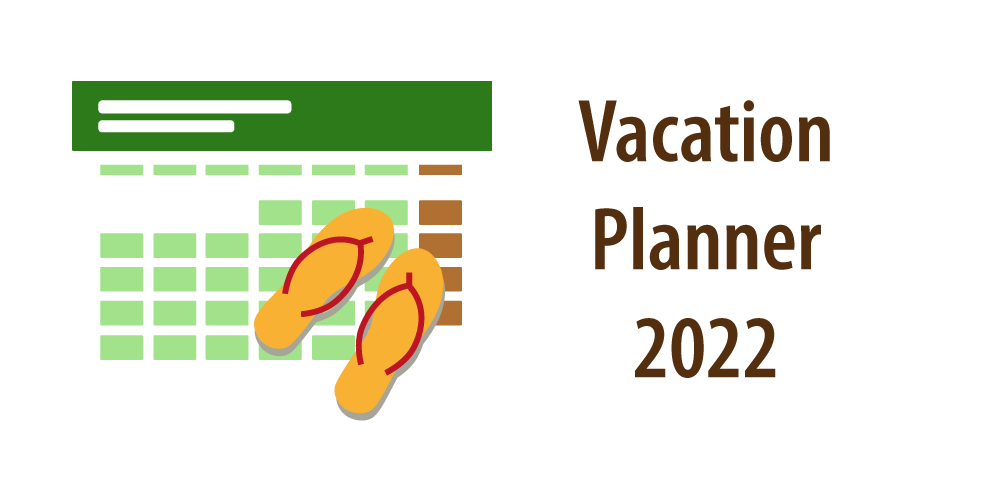 """Banner for article """"vacation planner 2022"""""""